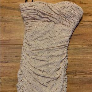 Bebe dress nude